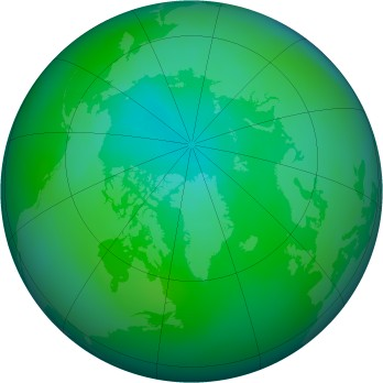 Arctic ozone map for 2007-08
