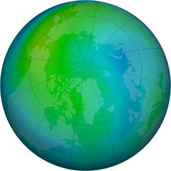 Arctic ozone map for 2007-10