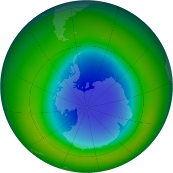 Antarctic ozone map for 2007-11