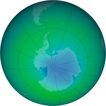 December 2007 monthly mean Antarctic ozone