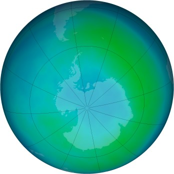 Antarctic ozone map for 2008-04