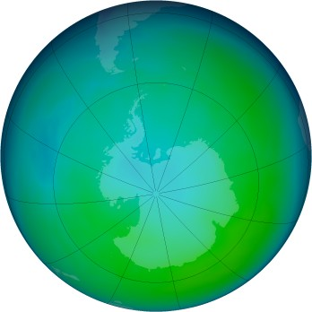 Antarctic ozone map for 2008-05