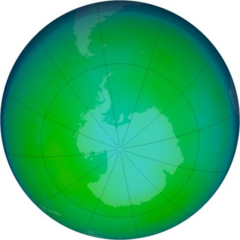 Antarctic ozone map for 2008-06