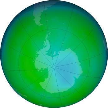 Antarctic ozone map for 2008-07