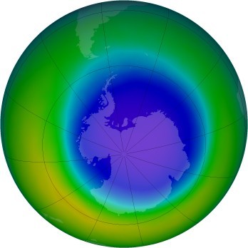 Antarctic ozone map for 2008-10