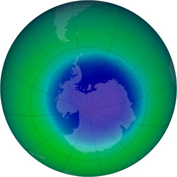 November 2008 monthly mean Antarctic ozone