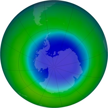 Antarctic ozone map for 2008-11