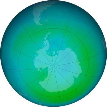 Antarctic ozone map for 2009-01