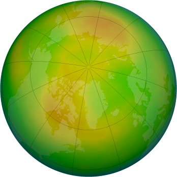 Arctic ozone map for 2009-05