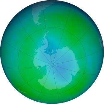 Antarctic ozone map for 2009-05