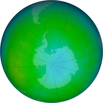 Antarctic ozone map for 2009-06