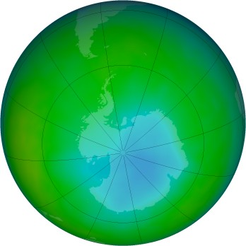 Antarctic ozone map for 2009-07