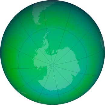 July 2009 monthly mean Antarctic ozone