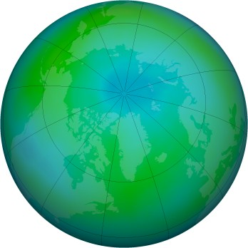 Arctic ozone map for 2009-09