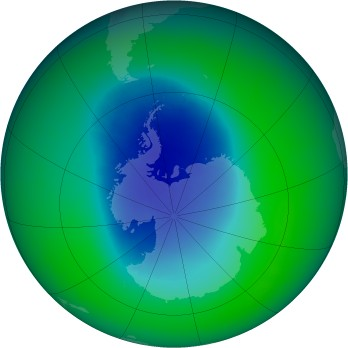 November 2009 monthly mean Antarctic ozone