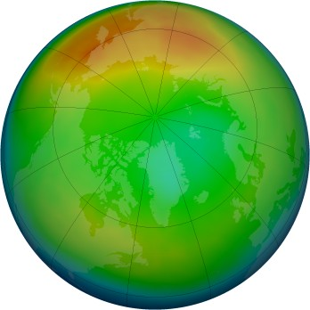 Arctic ozone map for 2009-12