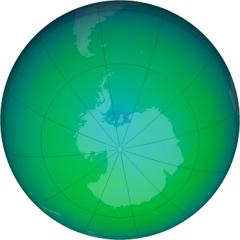 December 2009 monthly mean Antarctic ozone