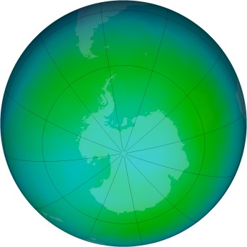 Antarctic ozone map for 2010-01