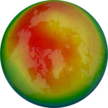 Arctic ozone map for 2010-03