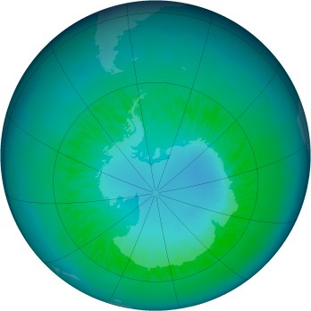Antarctic ozone map for 2010-04