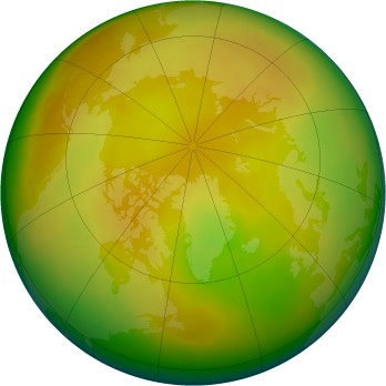 Arctic ozone map for 2010-05