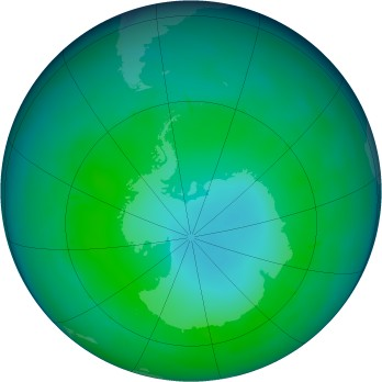 Antarctic ozone map for 2010-05