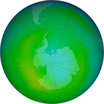 Antarctic ozone map for 2010-06