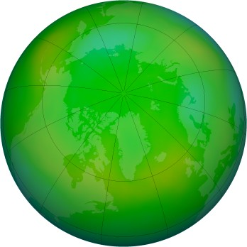 Arctic ozone map for 2010-07