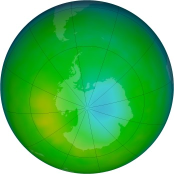 Antarctic ozone map for 2010-07