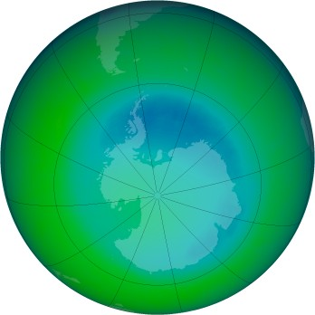 August 2010 monthly mean Antarctic ozone