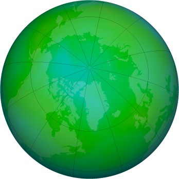 Arctic ozone map for 2010-08
