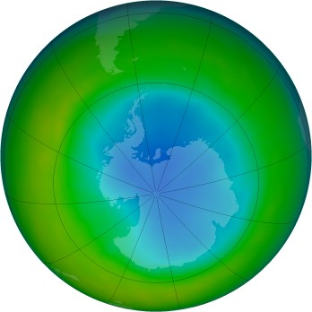 Antarctic ozone map for 2010-08