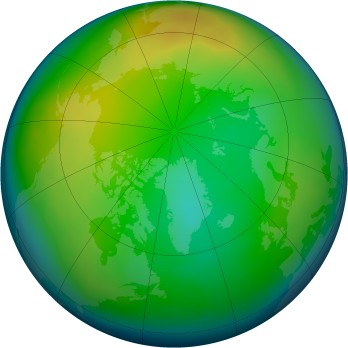 Arctic ozone map for 2010-12
