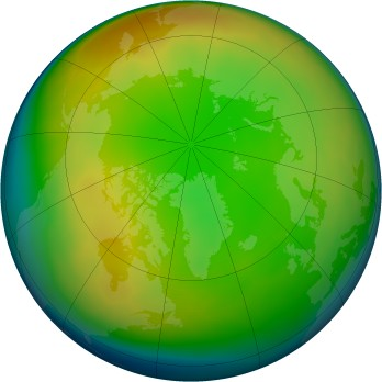 Arctic ozone map for 2011-01