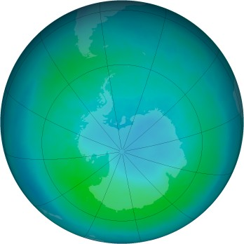 Antarctic ozone map for 2011-03