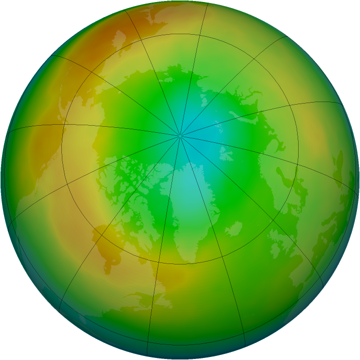 Arctic ozone map for March 2011