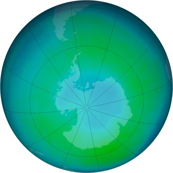 Antarctic ozone map for 2011-04