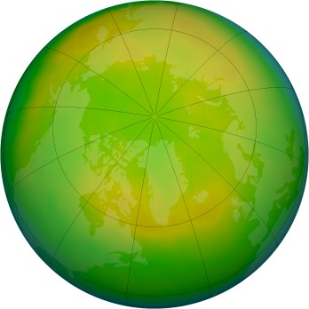 Arctic ozone map for 2011-05