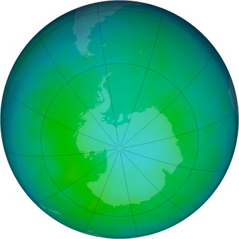 Antarctic ozone map for 2011-05