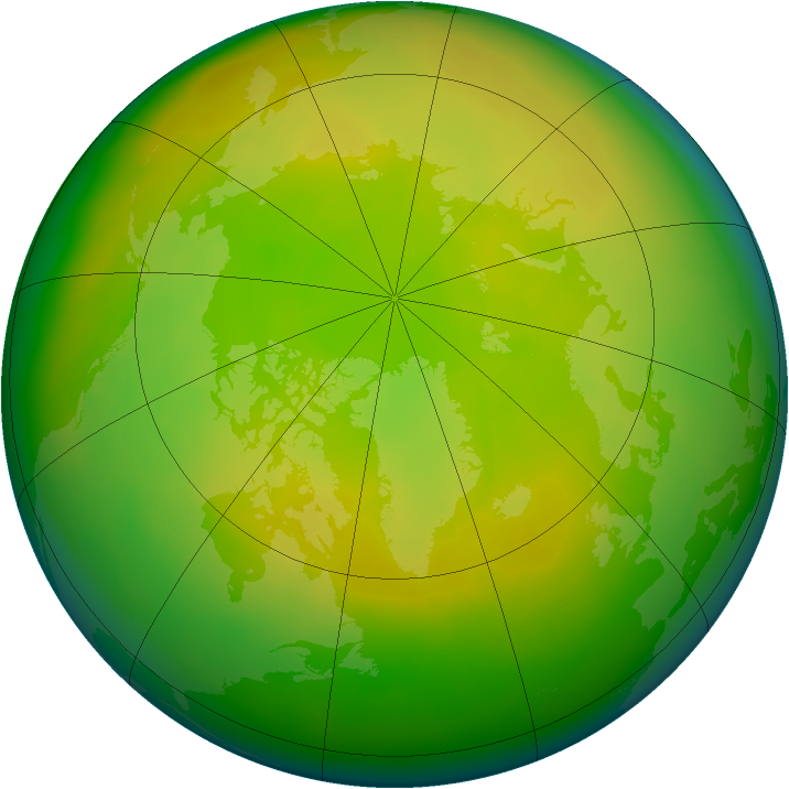 Arctic ozone map for May 2011