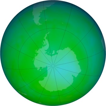 Antarctic ozone map for 2011-06