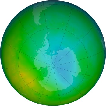 Antarctic ozone map for 2011-07