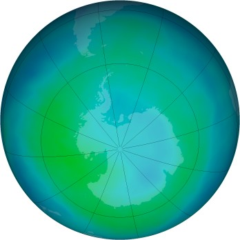 Antarctic ozone map for 2012-04