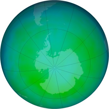 Antarctic ozone map for 2012-05