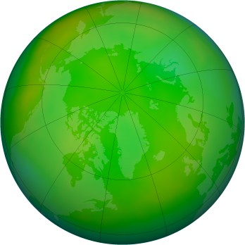 Arctic ozone map for 2012-06