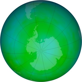 Antarctic ozone map for 2012-06