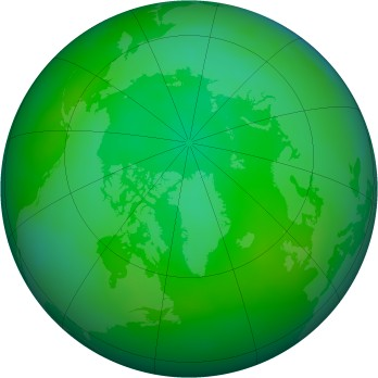 Arctic ozone map for 2012-07