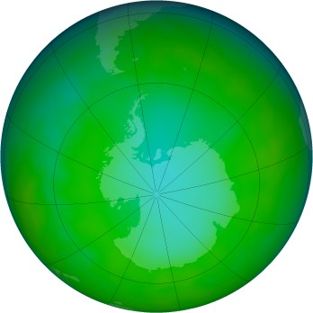 Antarctic ozone map for 2012-07