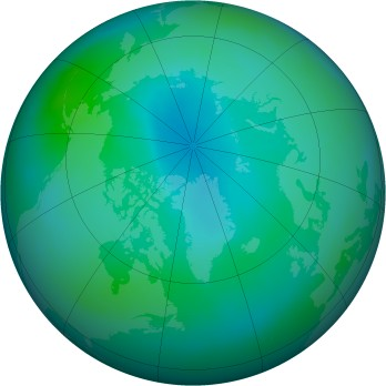 Arctic ozone map for 2012-09
