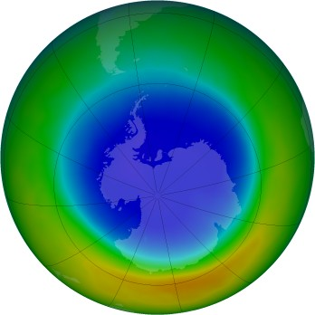 Antarctic ozone map for 2012-09